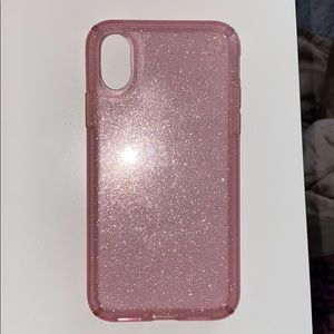 Pink sparkly iPhone X case from Speck.